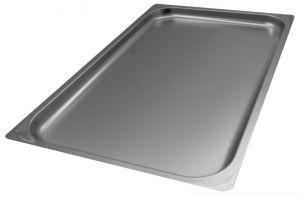 FNC1/1P020 Teglia Gastronorm 1/1 h20 in acciaio inox AISI 304 bordo piano