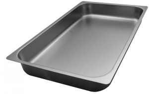 FNC1/1P065 Gastronorm 1 / 1 h65 AISI 304 stainless steel flat edge