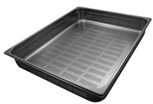 GST2/1P200F Gastronorm Container 2 / 1 h200 perforated stainless steel AISI 304 stainless steel AISI 304