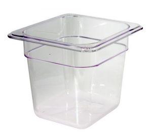 GST1/6P100P Gastronorm Container 1 / 6 h100 polycarbonate