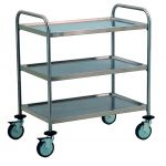 TEC1101 Cart Technical stainless steel AISI 304 3-storey demountable