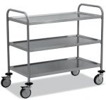 TEC1107 Cart Technical stainless steel AISI 304 3-storey demountable