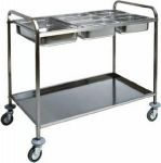 TCA 1387 Chariot porte-bacs Gastronorm GN acier inox 110x62x97h
