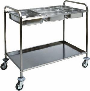 CA 1387 Chariot porte-bacs Gastronorm GN acier inox 110x62x97h