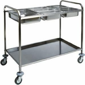 CA 1387 Stainless steel GN pans trolley 110x62x97h