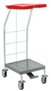 00004161 Dust 4161 linen trolley with pedal - 70 L