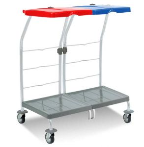 00004162 Laundry trolley Dust 4162 - 2X70 L