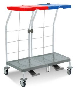 00004163 Dust 4163 linen trolley with pedal - 2X70 L