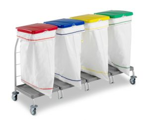 00004166 Laundry trolley Dust 4166 - 4X70 L