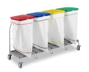 00004167 Dust 4167 linen trolley with pedal - 4X70 L