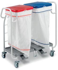 00004173 Cesto de polvo para ropa 4173 - Con pedal - 2 X 70 Lt