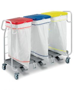 00004175 Laundry Basket Dust 4175 - With Pedal - 3 X 70 Lt