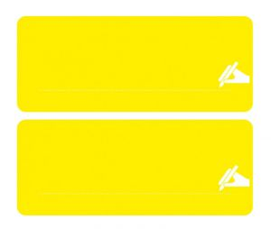E0900003 DOSELY LABEL SET - YELLOW - 2 YELLOW LABELS