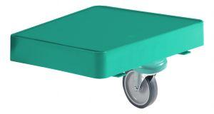 T03037010 GREEN LINE REGGI-BAG PLATE WITH WHEEL - GREEN -