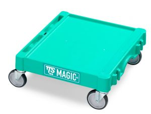 T09060401 Base Magic Mini - Verde - Ruote Con Freno Ø 100 Mm