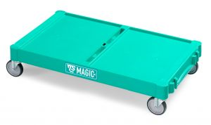 T09070410 LARGE MAGIC BASE - GREEN - WHEELS ø 125 MM