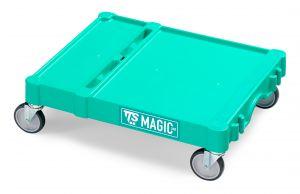 T09080401 SMALL MAGIC BASE - GREEN - WHEELS WITH BRAKE ø 100