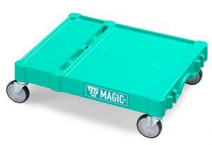 T09080412 SMALL MAGIC BASE - GREEN - OUTDOOR WHEELS ø 1