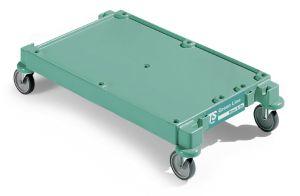 T092302 GREEN LINE BASE SMALL - GREEN - WHEELS ø 125 MM