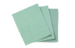 TCH603049 BASIC-T CLOTH - WHITE-GREEN - 20 PACK FROM 10 PCS -
