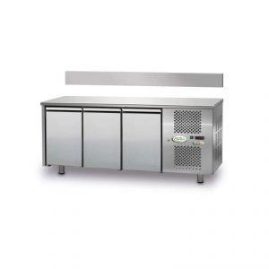FTRA3TN - Tavolo Refrigerato Ventilato 3 porte - 0/+10° - CON ALZATINA