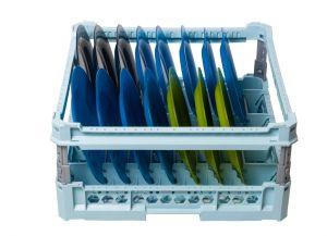 GEN-100115p Cesta especial para 15 platos planos y platos hondos con marco de protección