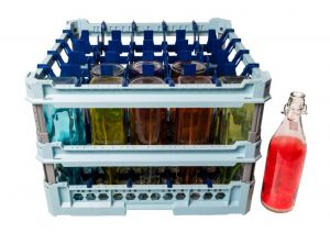 GEN-100142 Special basket with water conveyors for washing 25 bottles