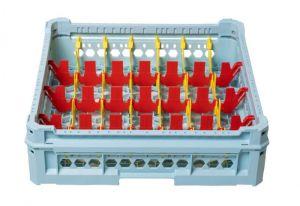 GEN-K34x7 CESTA CLÁSICA 28 COMPARTIMIENTOS RECTANGULARES - Altura de copa de 120 mm a 240 mm