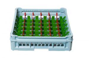 GEN-K26x7 CLASSIC BASKET 42 RECTANGULAR COMPARTMENTS - Tumbler height from 65mGEN-K36x7 CLASSIC BASKET 42 RECTm to 120mm