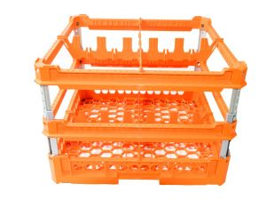 GEN-K42x2 CLASSIC BASKET 4 SQUARE COMPARTMENTS - Cup height from 240mm to 340mm