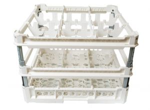 GEN-K43x3 CLASSIC BASKET 9 SQUARE COMPARTMENTS - Cup height from 240mm to 340mm