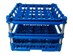 GEN-K45x5 CLASSIC BASKET 25 SQUARE COMPARTMENTS - Cup height from 240mm to 340mm