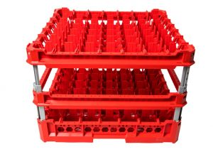 GEN-K47x7 CLASSIC BASKET 49 SQUARE COMPARTMENTS - Cup height from 240m to 340mm
