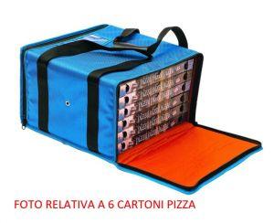 BTR4520 Borsa termica rigida per 3 cartoni pizza ø 45 cm zip