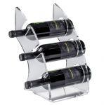 EV01301 CURVY 1 Présentoir plexiglas transparent pour bouteilles ø 8,2 cm
