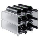EV02701 NINE - Porte-bouteille à poser avec neuf sièges pour bouteilles ø 8,2 cm