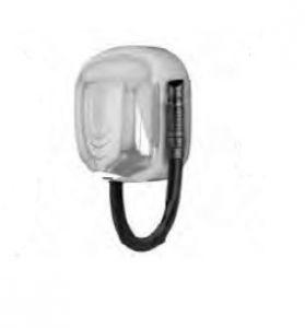 T704561 Asciugacapelli da parete con tubo per uso intensivo in inox AISI 304 lucido