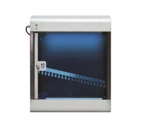 T903025 Esterilizador de cuchillos de acero inoxidable AISI 304 con rayos UVC para 20 cuchillos