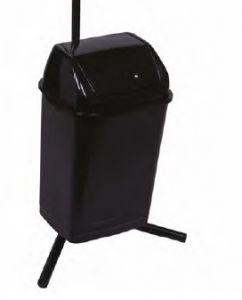 T909536 Pattumiera nera basculante 30 Litri - Nero