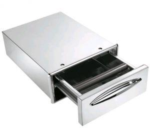 ICCBP40 Tiroir à café dans un tiroir en acier inoxydable profondeur 45,6 cm