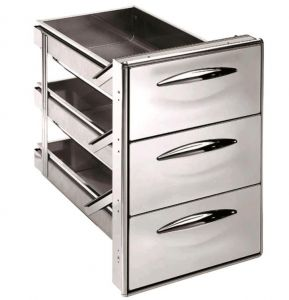 ICCS13 50GS Stainless steel drawer 1/3 simple Rounded corners Drawer depth 55.6 cm