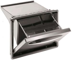 ICTRB35 Coffee hopper in stainless steel with watertight seal to eliminate the flow of liquid residues