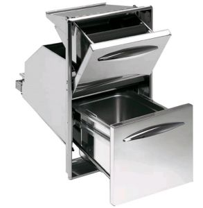 ICTRBR35 Coffee hopper with stainless steel collection counter hole cm L 35 x 59 H