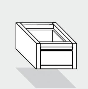 EUG2072-46 cassetto singolo ECO e40 cm 40x60x20hsotto tavolo guide inox semplici