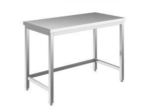 EUG2207-19 tavolo su gambe ECO cm 190x70x85h-piano liscio - telaio inferiore su 3 lati
