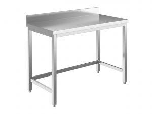 EUG2218-04 tavolo su gambe ECO cm 40x80x85h-piano con alzatina - telaio inferiore su 3 lati
