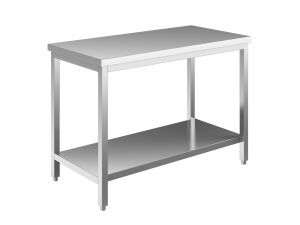 EUG2307-16 tavolo su gambe ECO cm 160x70x85h-piano liscio - ripiano inferiore
