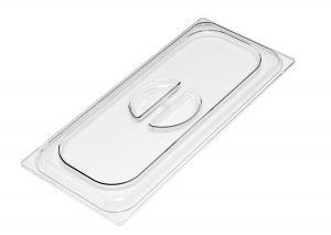 VGCV03 Tapa de policarbonato transparente cubetas de helado 330x165 mm