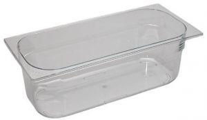 VGPT361612 Bandeja para helado de policarbonato transparente apilable 360x165x120 mm