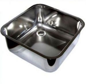 LV33/33A square stainless steel inset sink dim. 330x330x200h